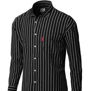Men's casual button Neck Shirt Long Sleeve